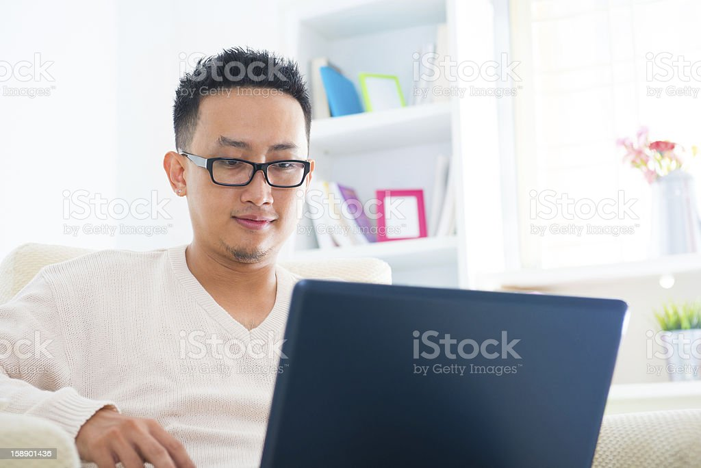 Southeast Asian man royalty-free stock photo