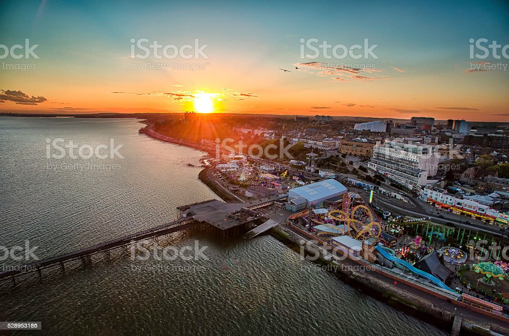 Southend-on-Sea, view from sea stock photo