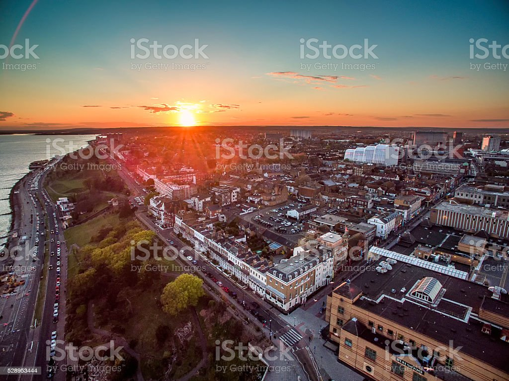 Southend-on-Sea, view to city stock photo
