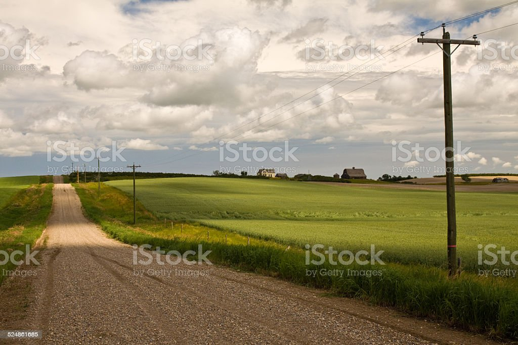 Southern Alberta, Canada summer rural scenes stock photo