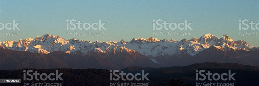 Southern Alps at sunset royalty-free stock photo