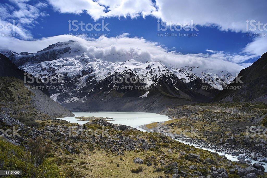 Southern Alps Glacial Lake royalty-free stock photo