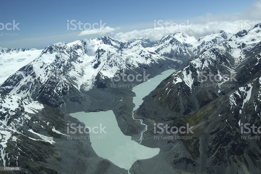 Southern Alps in New Zealand royalty-free stock photo