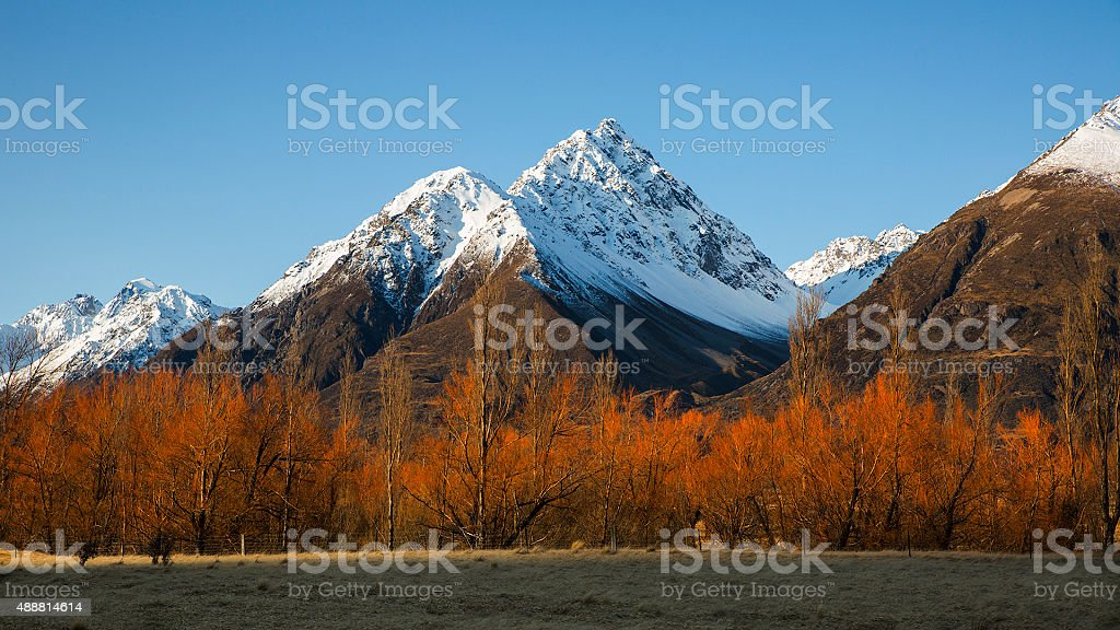 Southern Alps stock photo