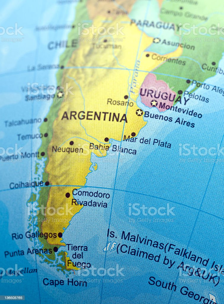 Southern Argentina stock photo