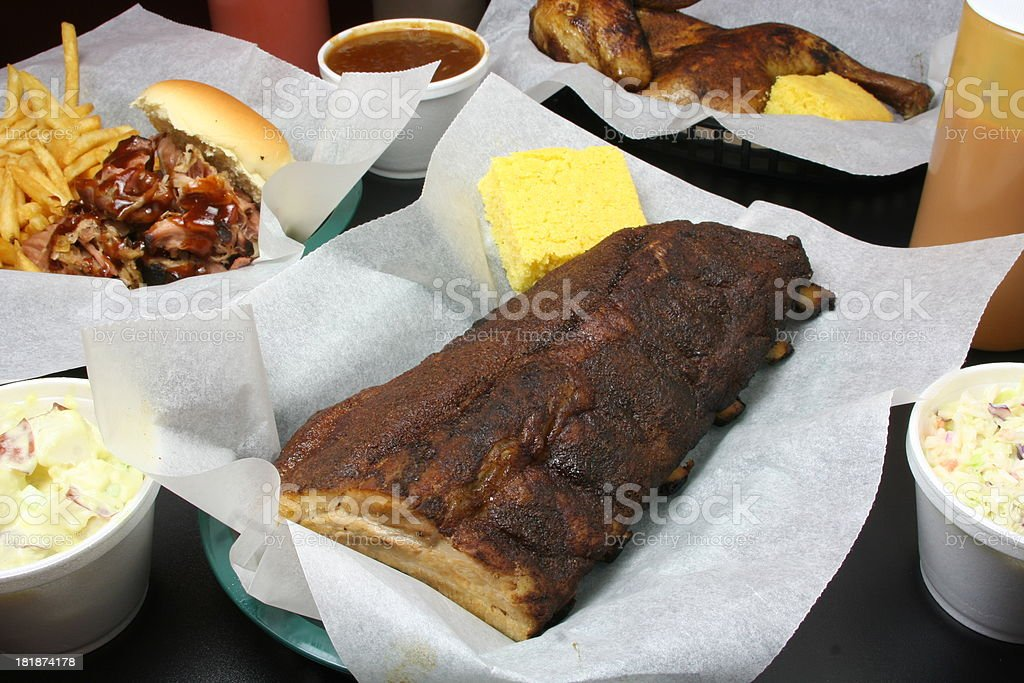 Southern Barbecue Food royalty-free stock photo