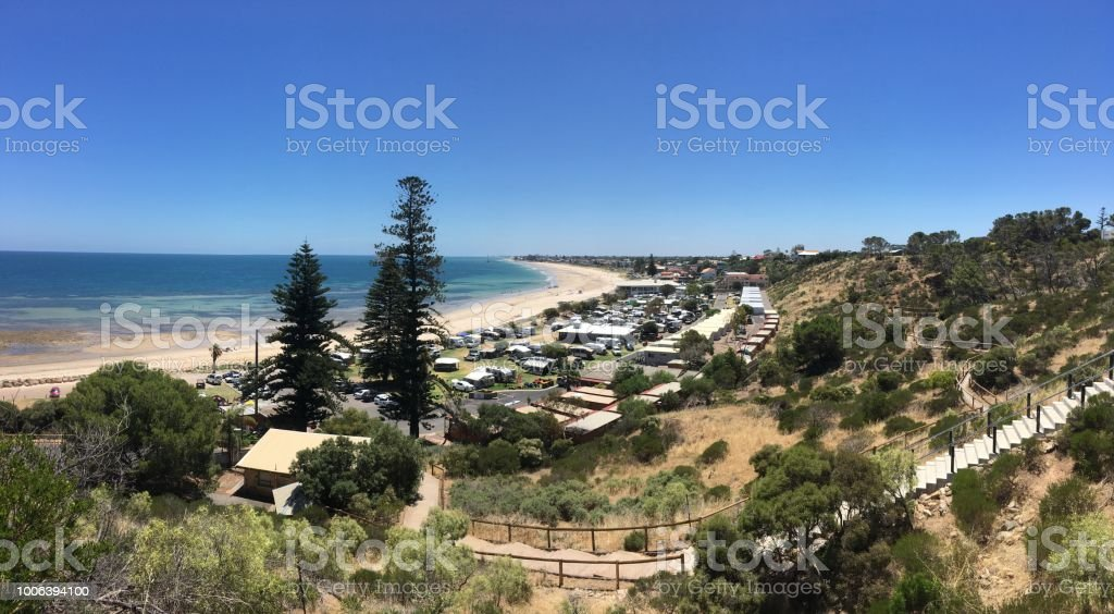 southern beach, adelaide australia stock photo