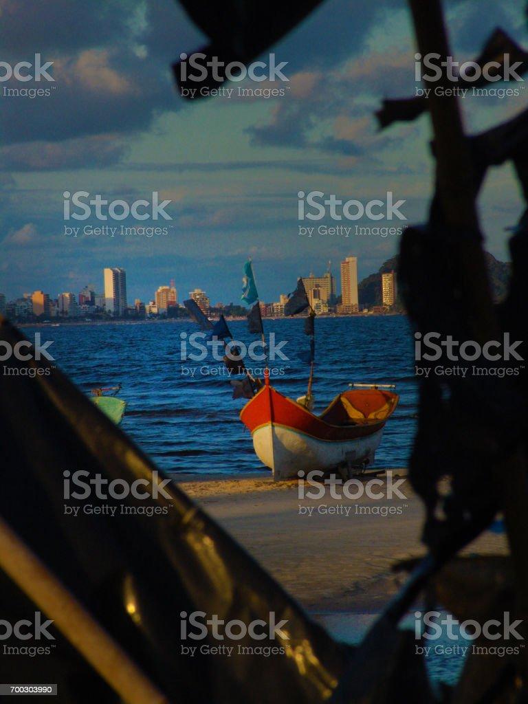 Southern beach of Brazil stock photo