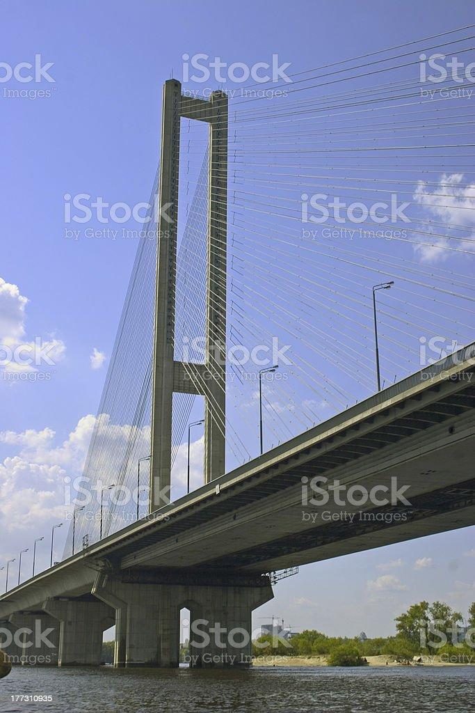 Southern bridge in Kiev royalty-free stock photo