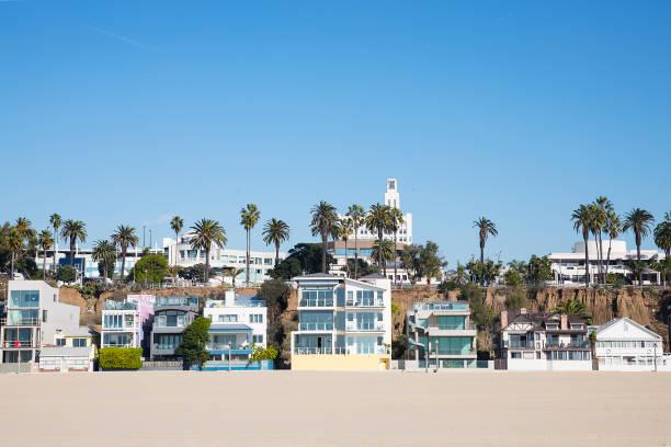 Southern California Beach Houses stock photo