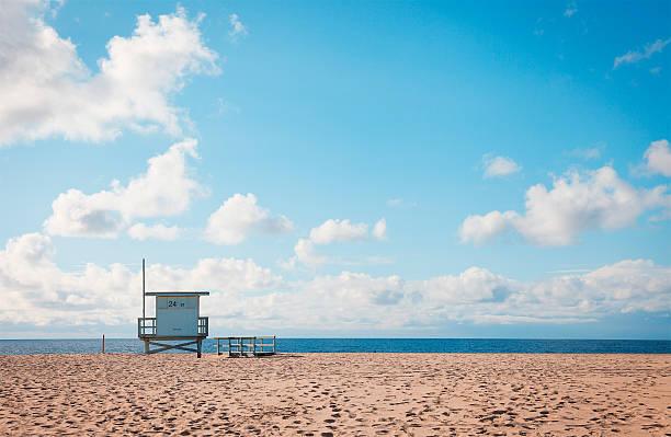southern california beach - badvaktshytt bildbanksfoton och bilder