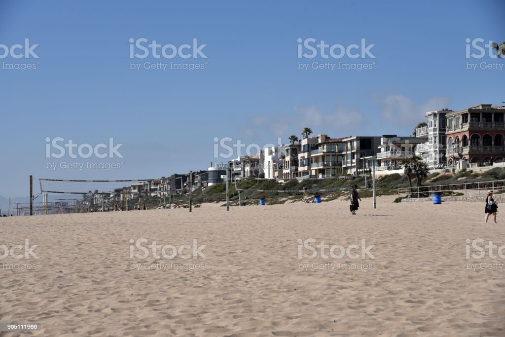 Southern California Beach Side Homes royalty-free stock photo