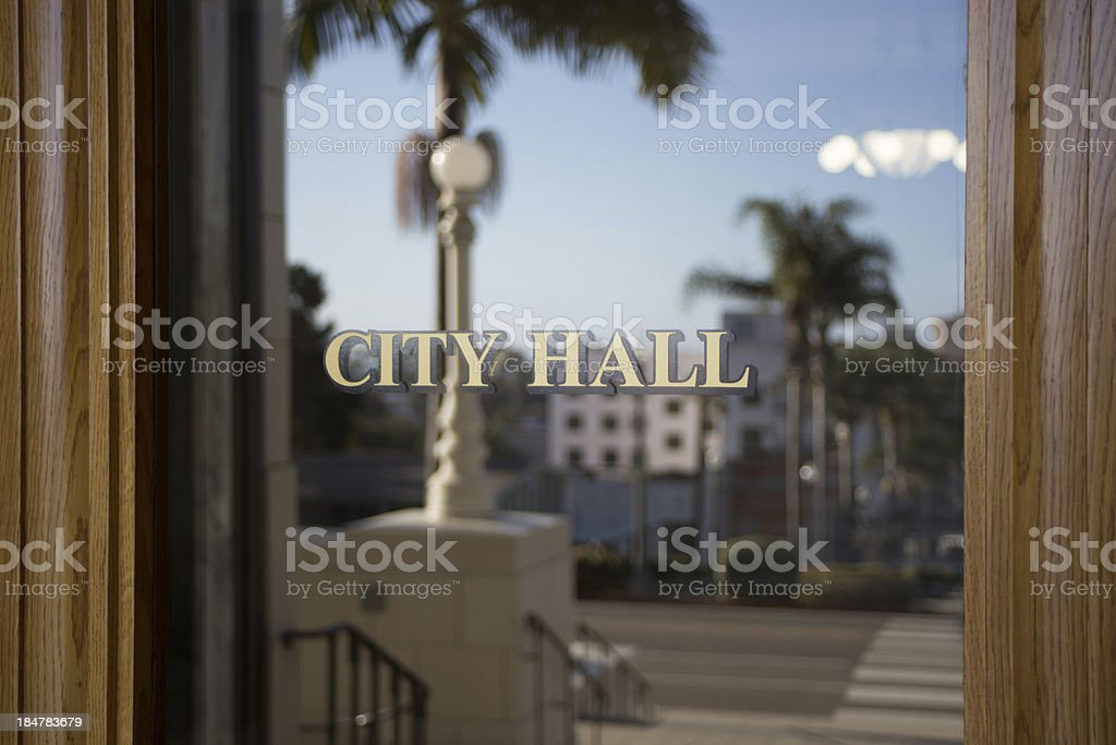 Southern California City Hall Exterior stock photo