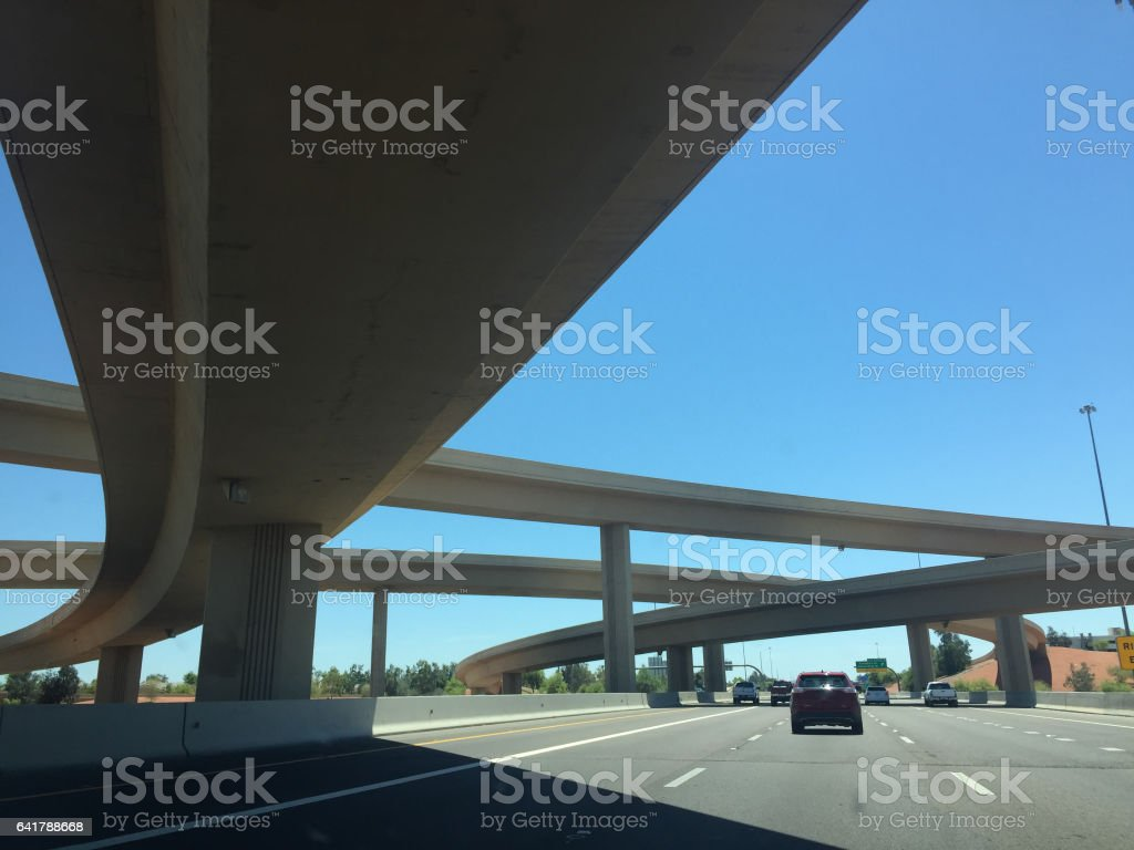 Southern California Interestate Overpass Mobile Stock stock photo