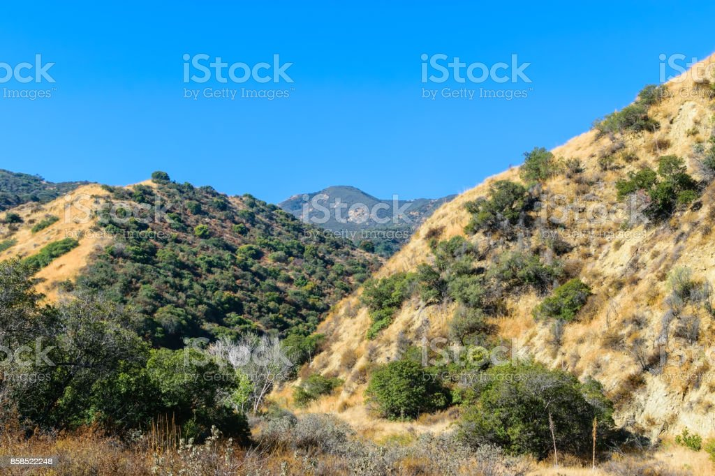 Southern California mountains in fall stock photo