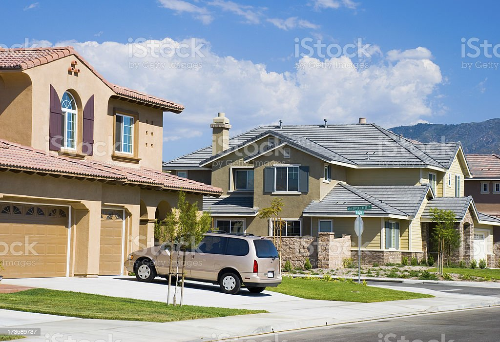 Southern California neighborhood stock photo