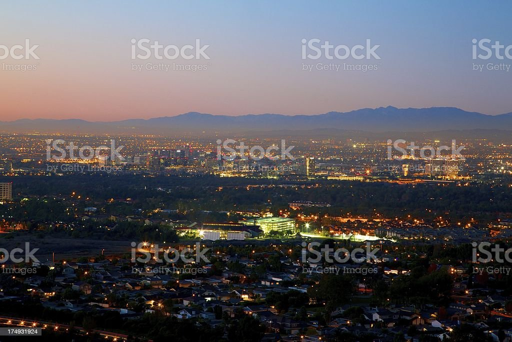 Southern California Night royalty-free stock photo