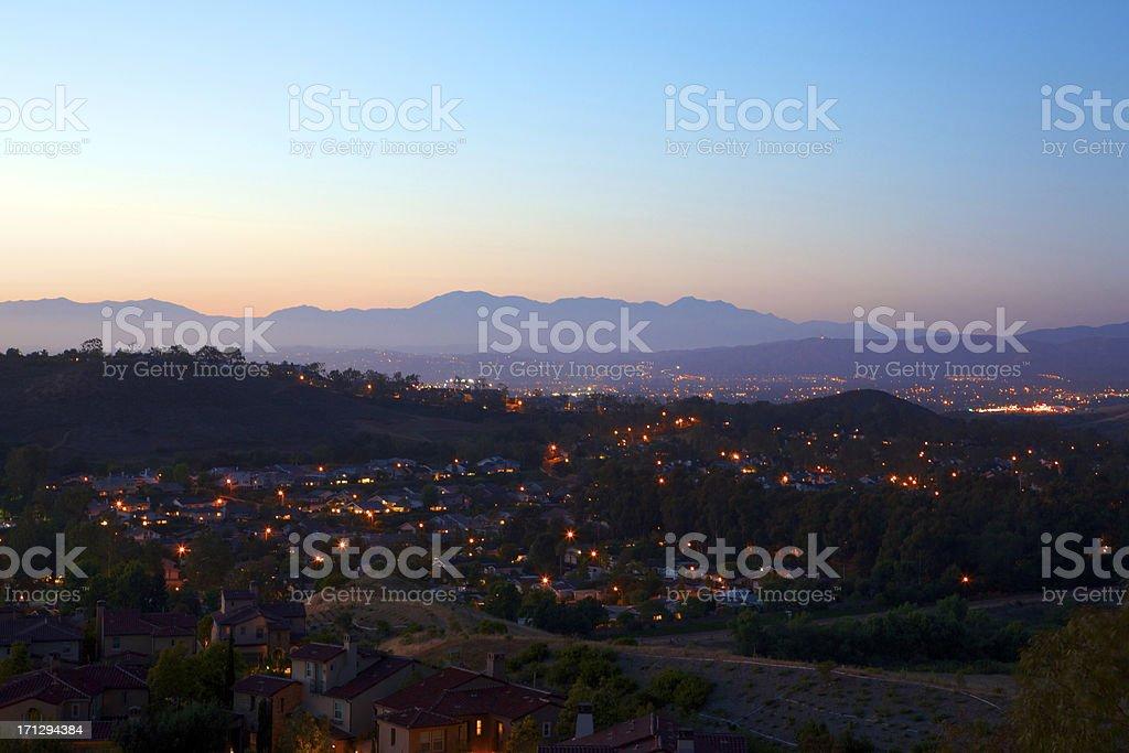 Southern California Suburb landscape stock photo