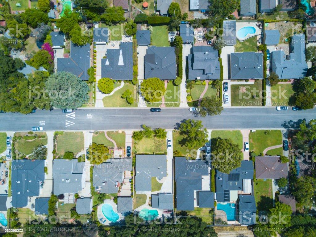 Southern California Suburban Area stock photo