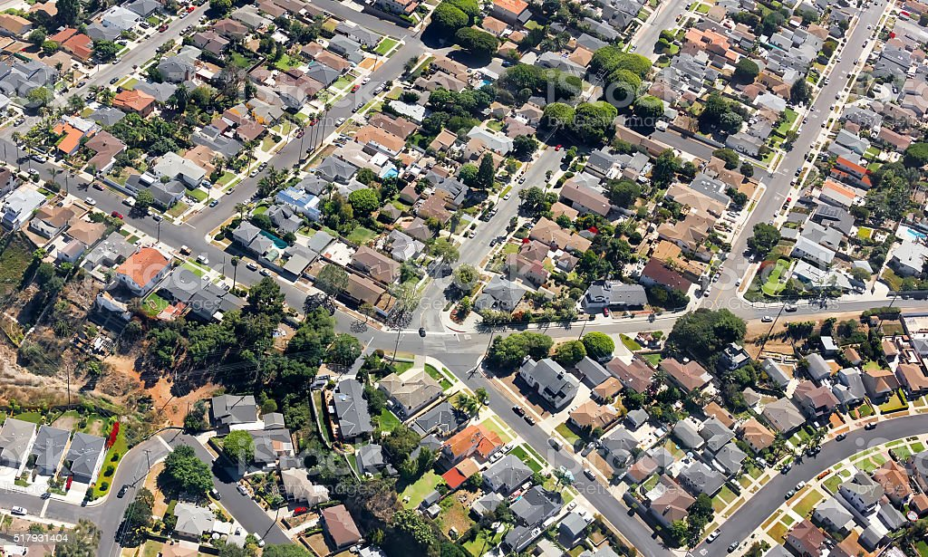 Southern California Suburban stock photo