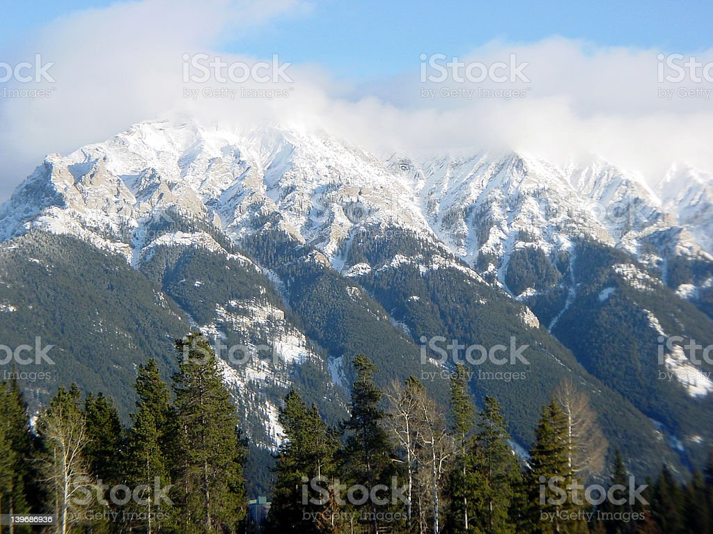 Southern Canadian Rockies stock photo