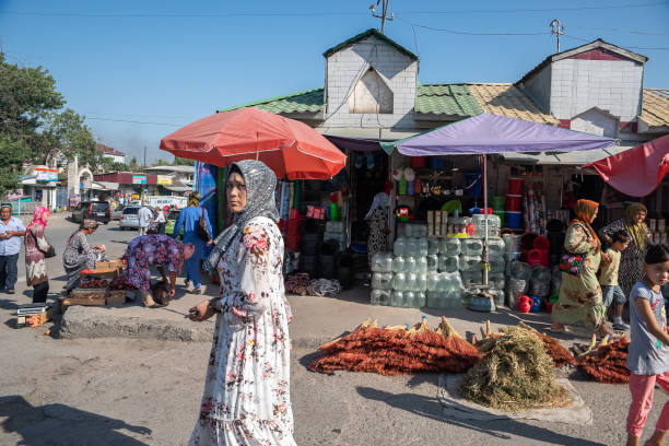 (Editorial use only) Southern citizen of Kyrgyzstan stock photo