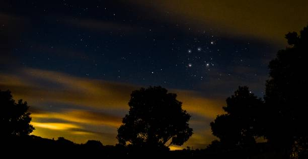 Southern Cross constellation in New Zealand astrophotographer stock photo