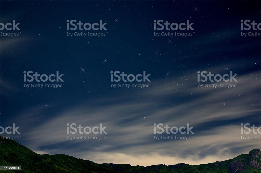 Southern Cross over Mahe (Seychelles) royalty-free stock photo