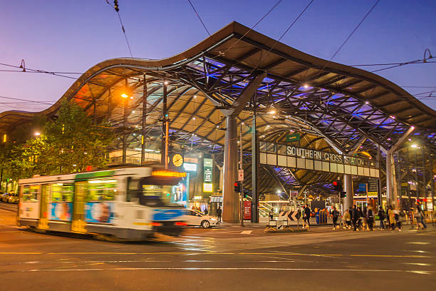 southern cross station - south stock photos and pictures