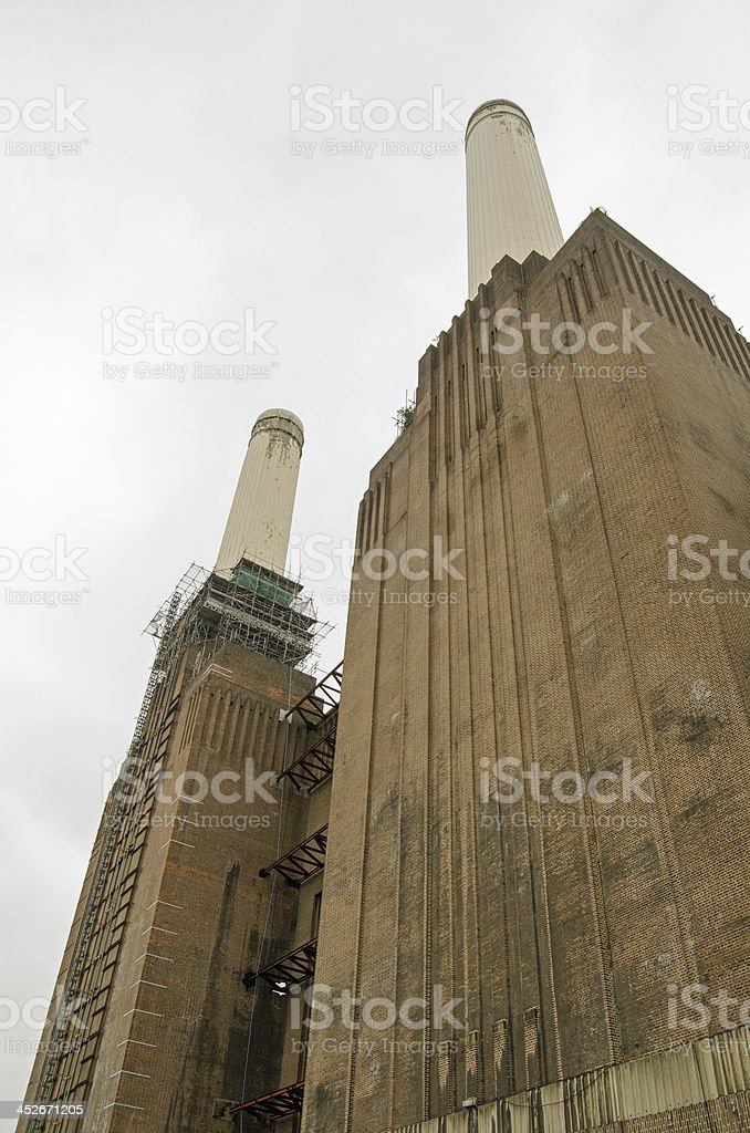 Southern Elevation, Battersea Power Station stock photo