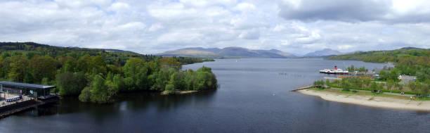 Southern end of Loch Lomond, Balloch, West Dunbartonshire, Scotland stock photo