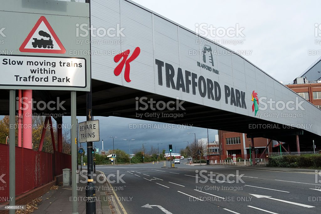 Southern Gateway to Trafford Park Industrial Estate Manchester, UK.. stock photo