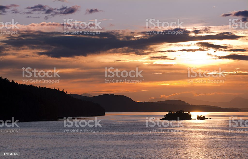 Southern Gulf Islands Sunset stock photo