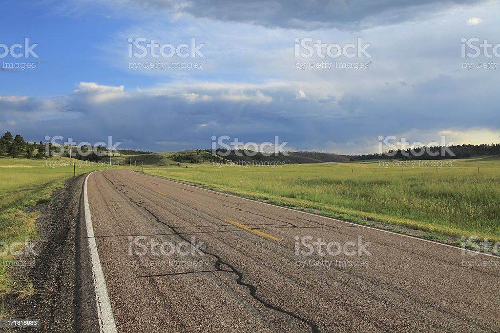 Southern Hills Road stock photo