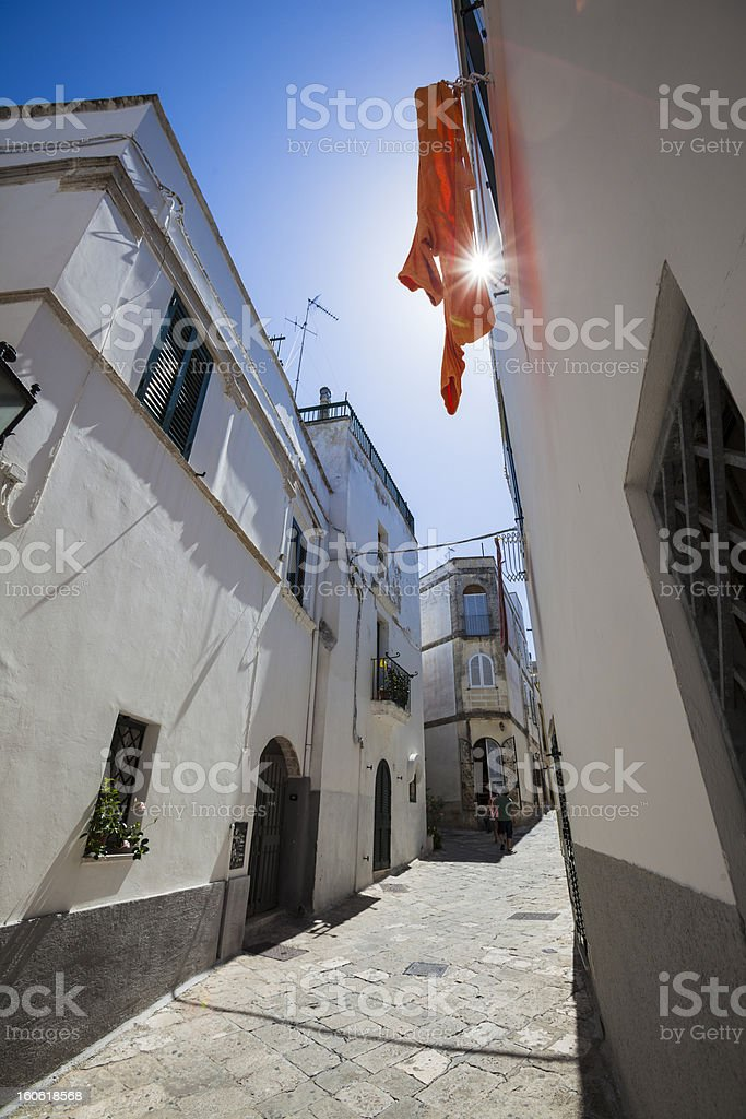Southern Italy Old Town royalty-free stock photo