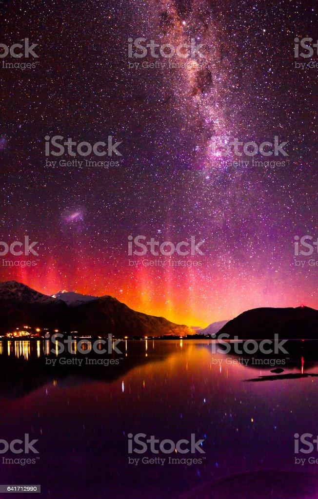 Southern Lights stock photo