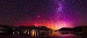 Aurora Australis over Lake Hayes New Zealand