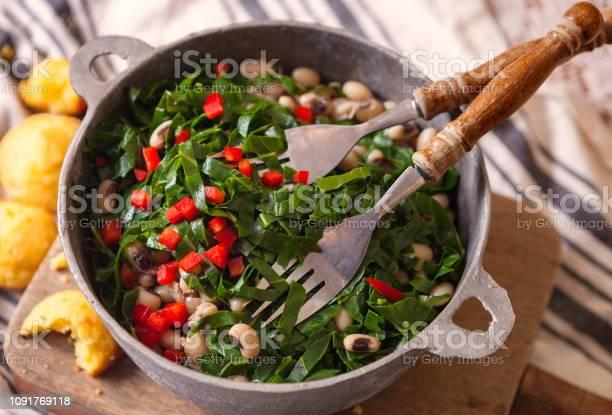 Southern new years dish of collard greens and black eyed peas picture id1091769118?b=1&k=6&m=1091769118&s=612x612&h=fzlwmkk bfmk68onpdnyngrj1nr ceka1kda7nz9wwo=