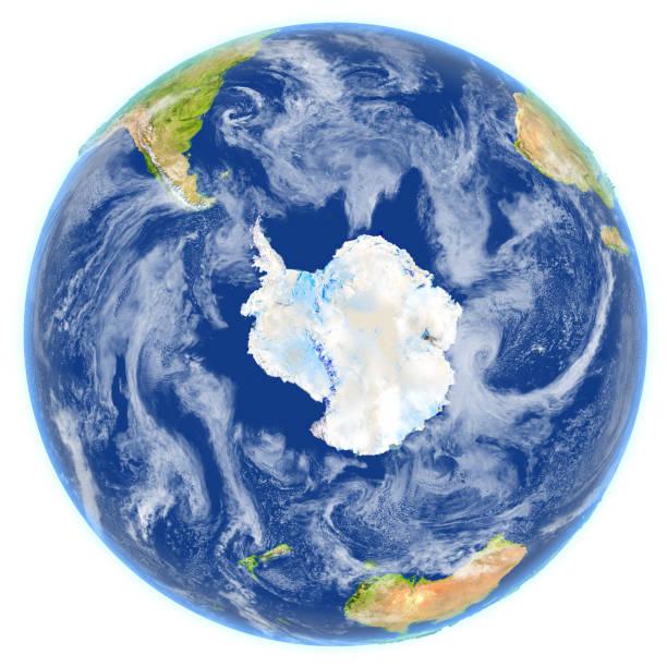 Océano meridional en el planeta tierra - foto de stock