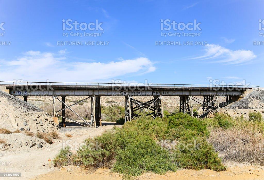 Southern Pacific Railroad Bridge stock photo