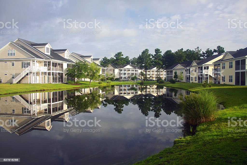 Southern residential neighborhood stock photo