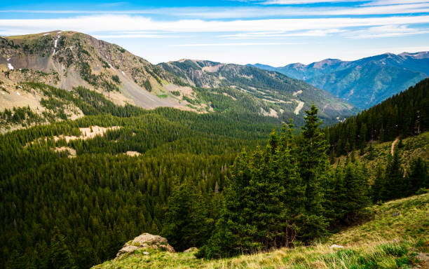 Southern Rocky Mountains of Northern New Mexico Wilderness stock photo