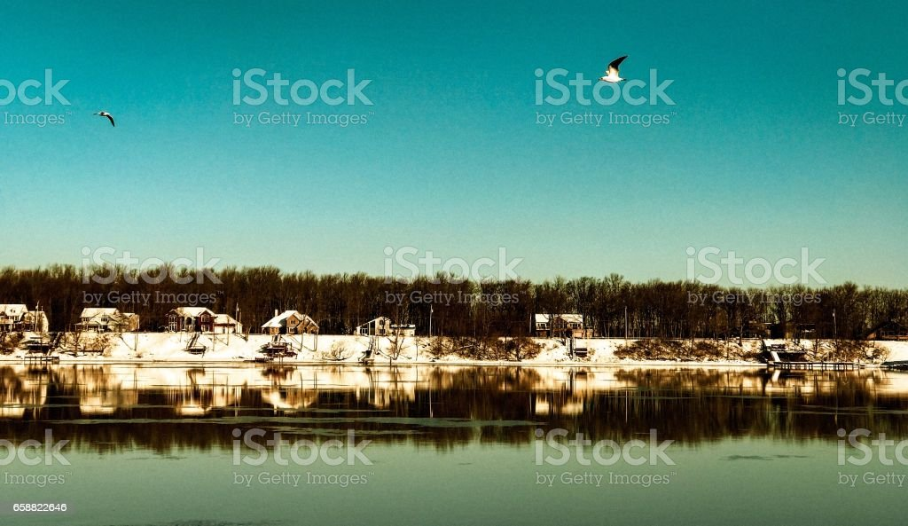 Southern Shores of Grand Island stock photo