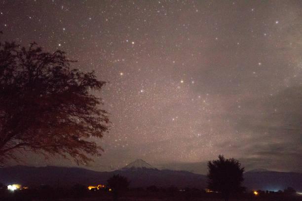 Südhimmelsterne und Vulkan Licancabur – Foto