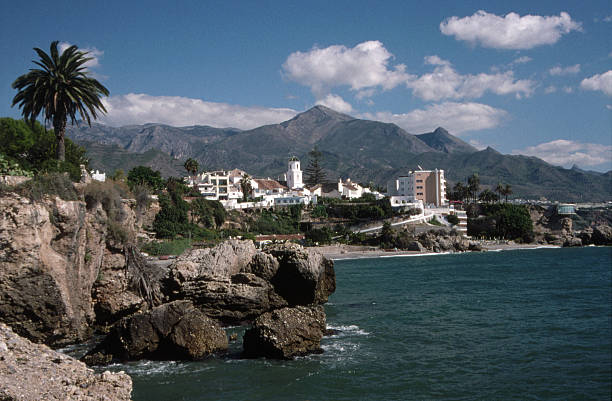 Southern Spain Coastal Village stock photo