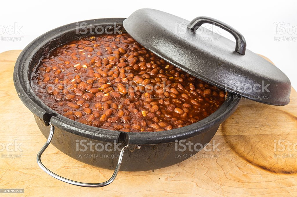 Southern Style Baked Beans stock photo