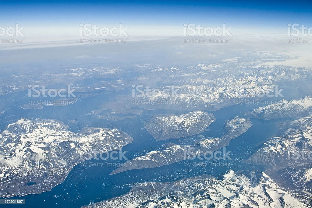 Southern tip of Greenland royalty-free stock photo