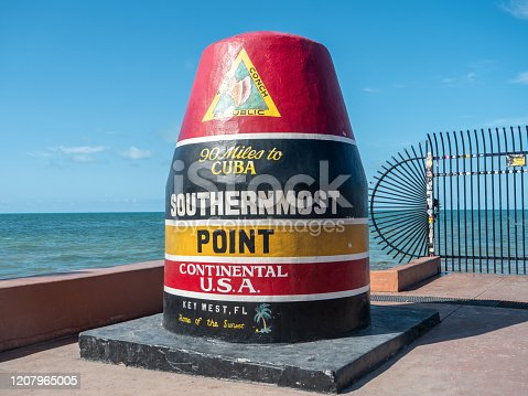 Southernmost point in Key West USA