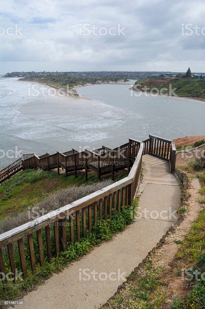 Southport Beach After the Storms and Floods, Fleurieu Peninsula, Lizenzfreies stock-foto