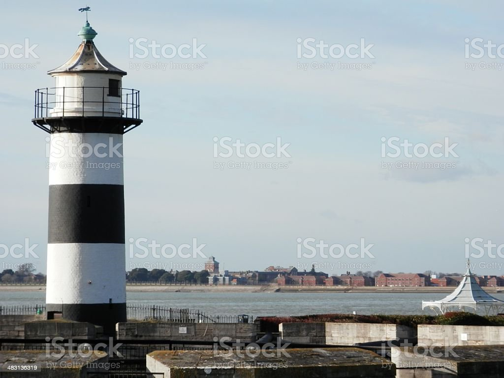 Southsea Castle Lighthouse stock photo